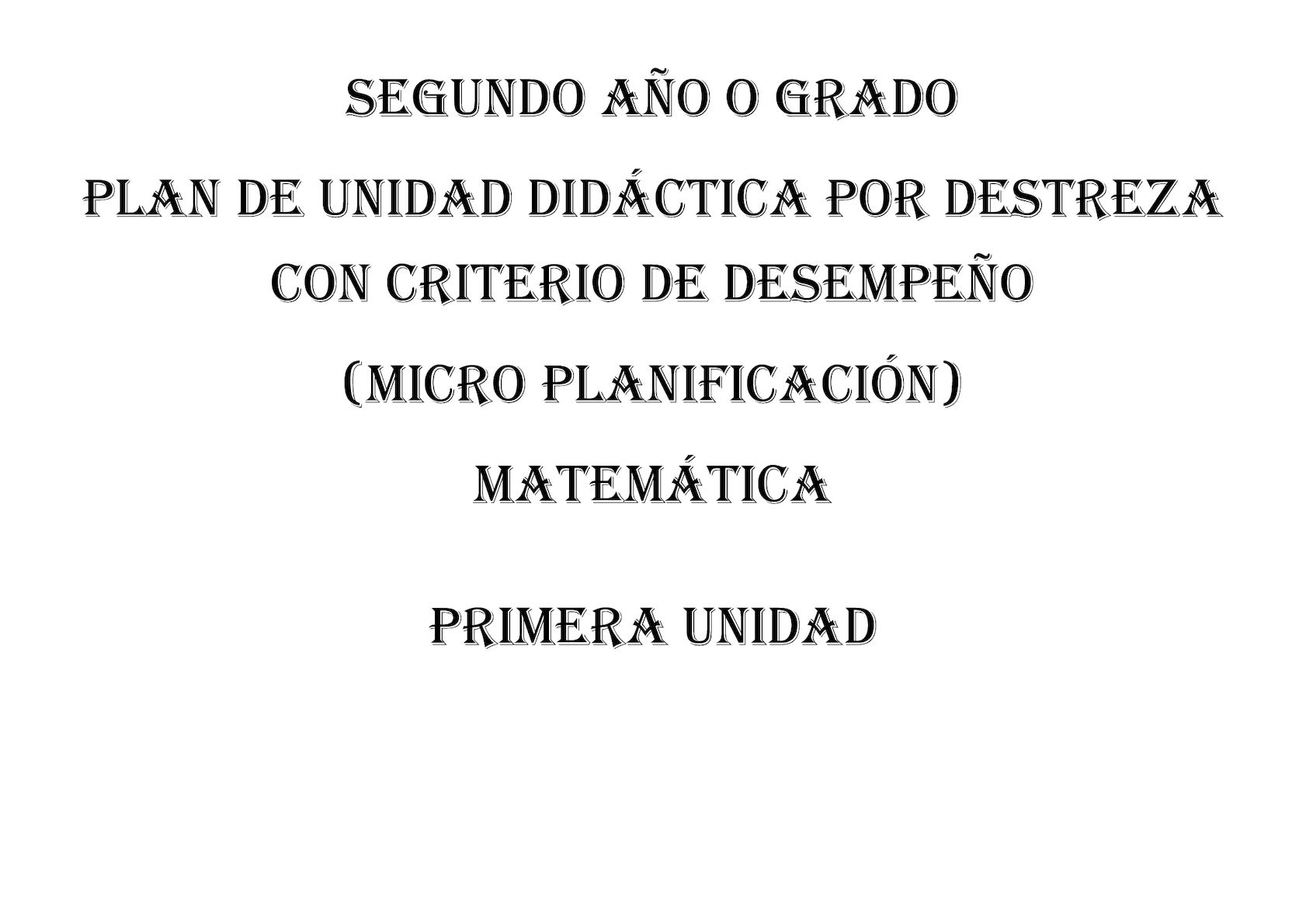 Pud (Micro Curricular) Matemática Segundo 2016 2017