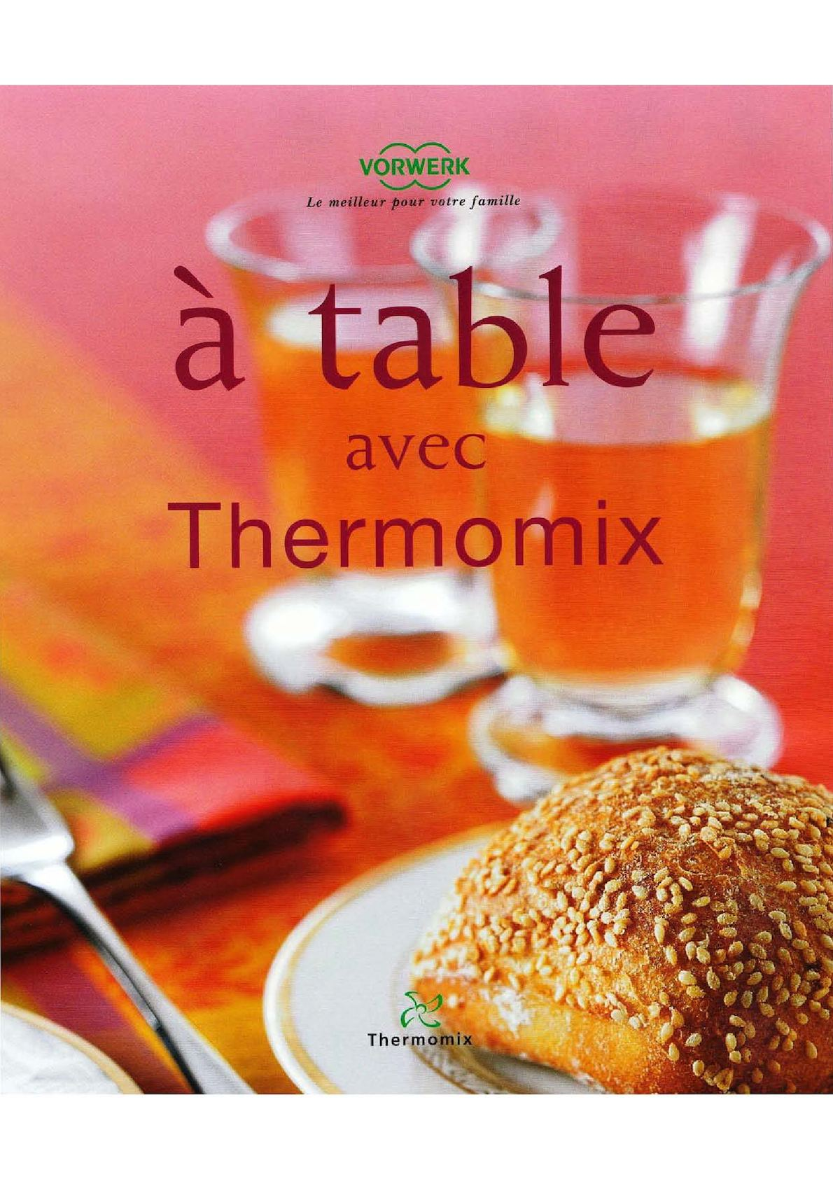 Calam o a table avec thermomix - Livre recette thermomix pas cher ...