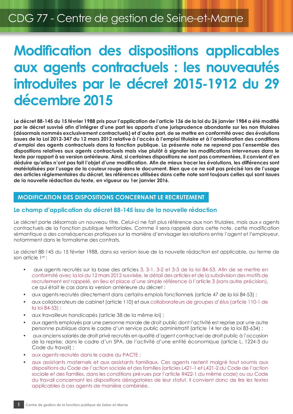 Calameo 2 Modification Des Dispositions Applicables Aux Agents