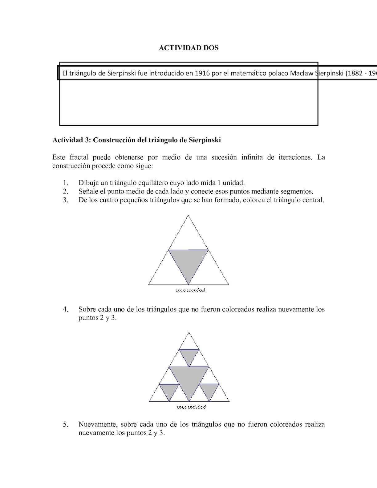 Calaméo - Construcción Del Triángulo De Sierpiski