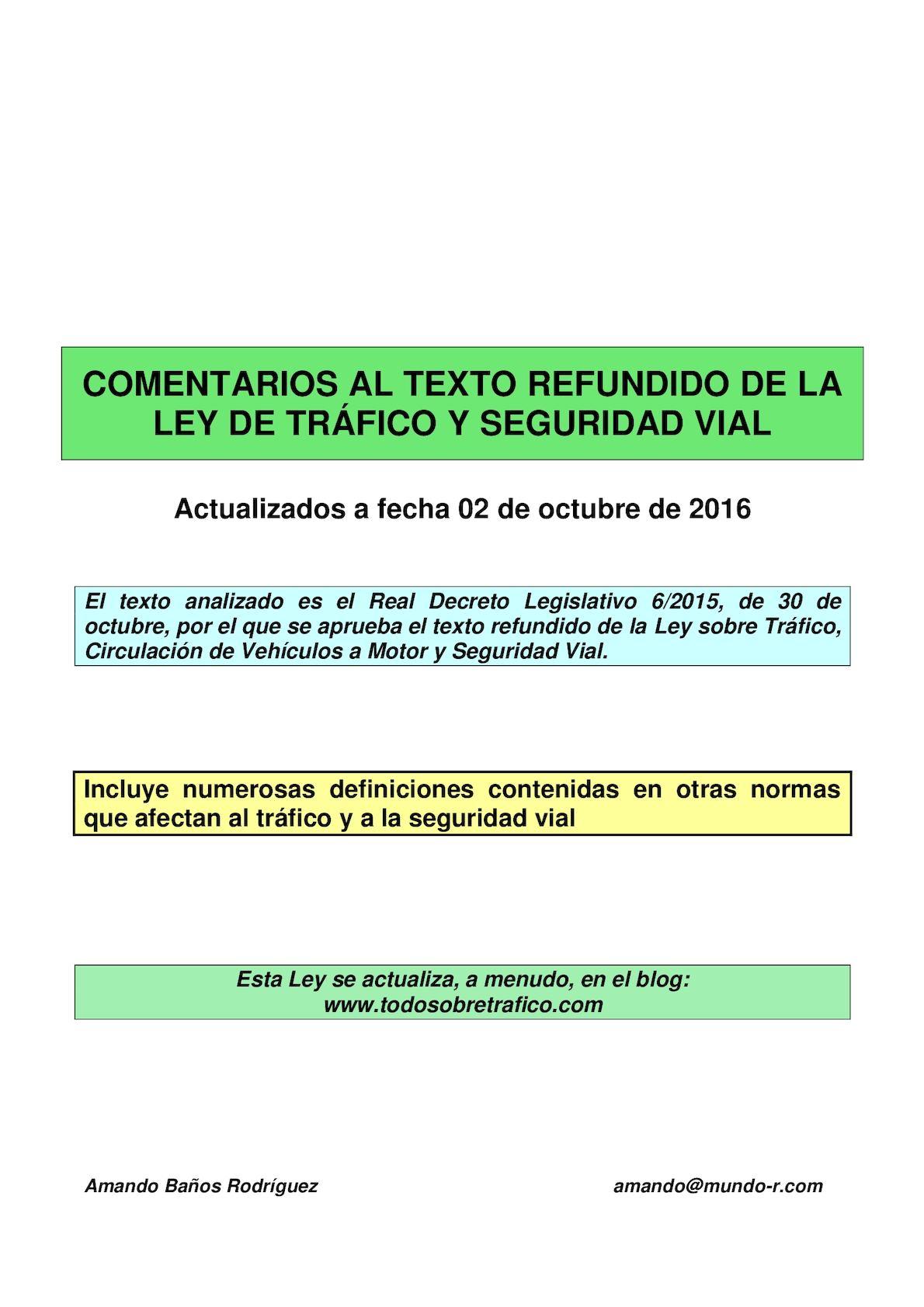 Calaméo - Ley De Trafico Y Seguridad Vial Comentada 02 10 2016