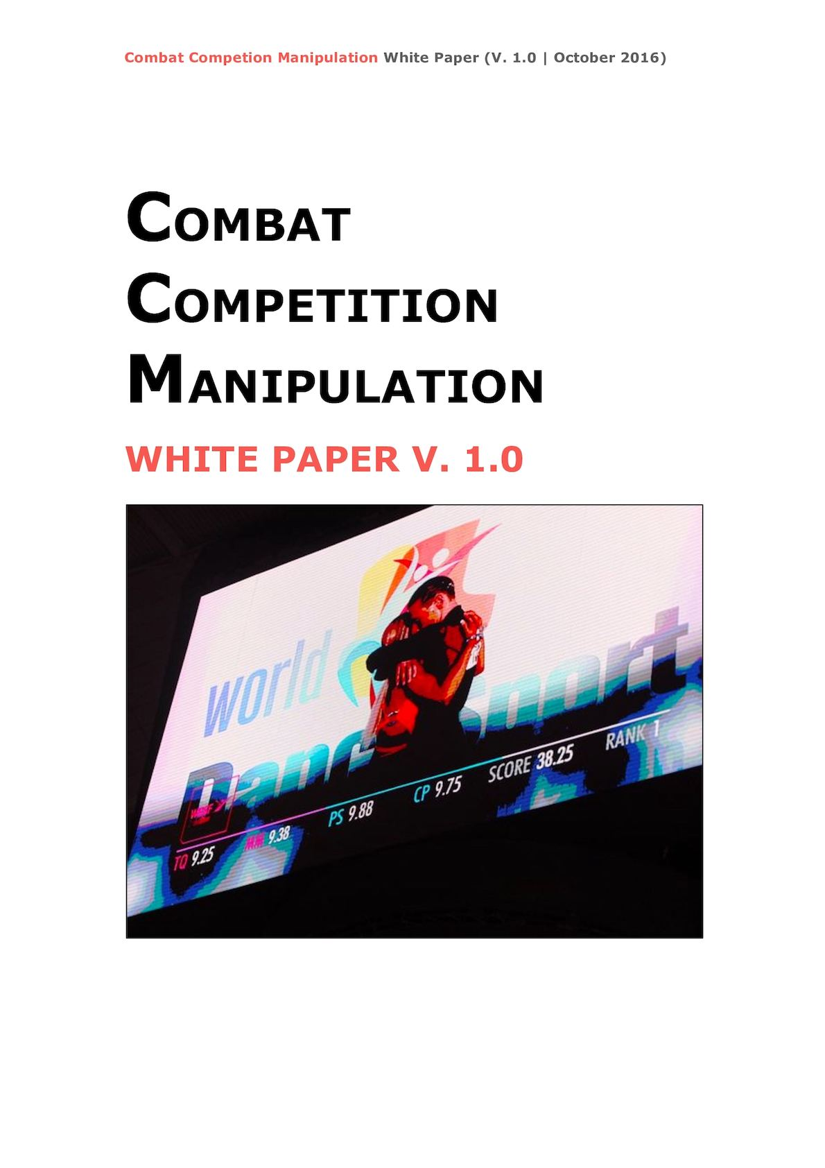 Combat Competition Manipulation   White Paper