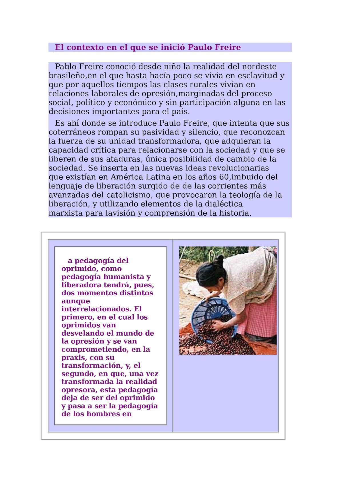 Calaméo - El Contexto En El Que Se Inició Paulo Freire