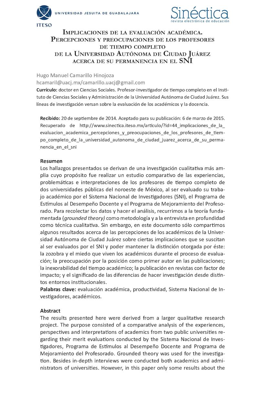 Calaméo - Articulo En Sinectica Camarillo