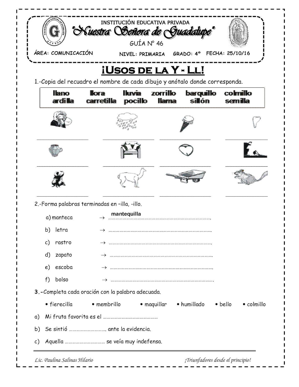 USO DE Y Y Ll