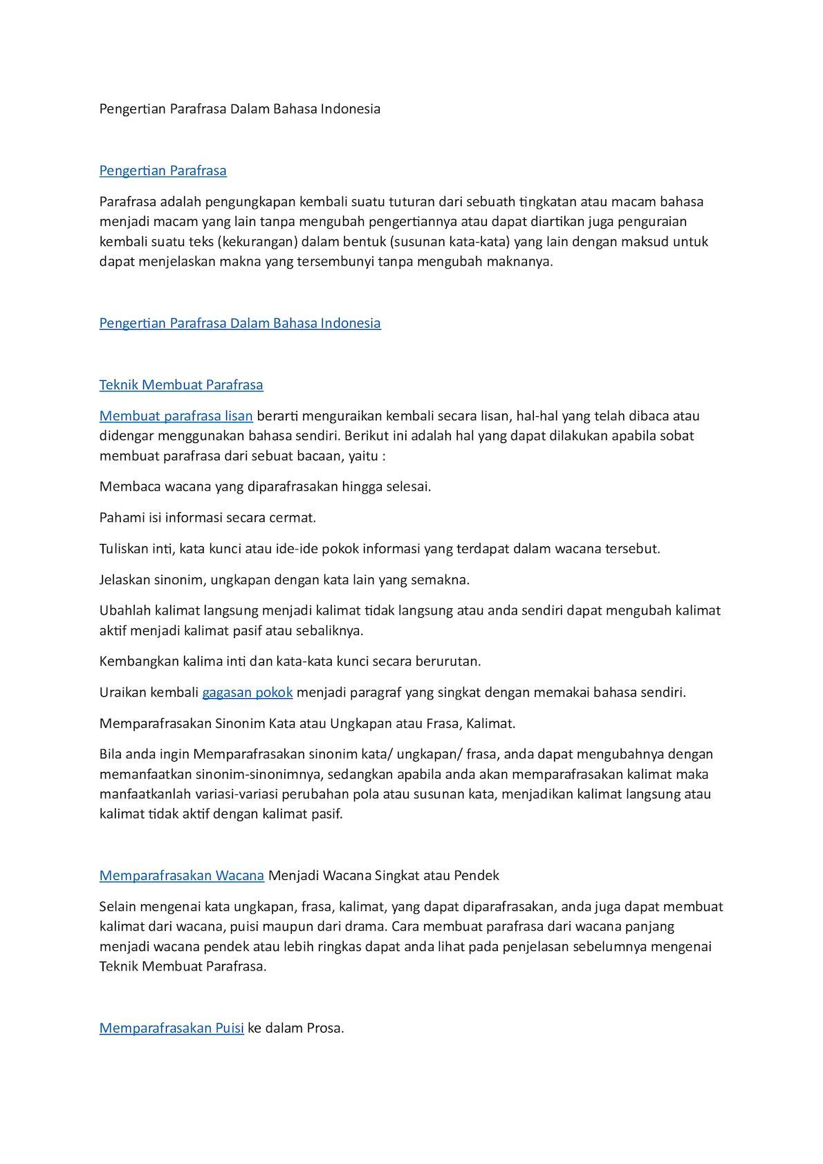 pengertian essay dalam bahasa indonesia Bahasa indonesia ( esai ) esai adalah ekspresi dari opini seseorang terhadap sebuah hal jadi essay sesungguhnya sangat berbeda dengan artikel ilmiah atau sekadar opini eksposure (laporan faktual.