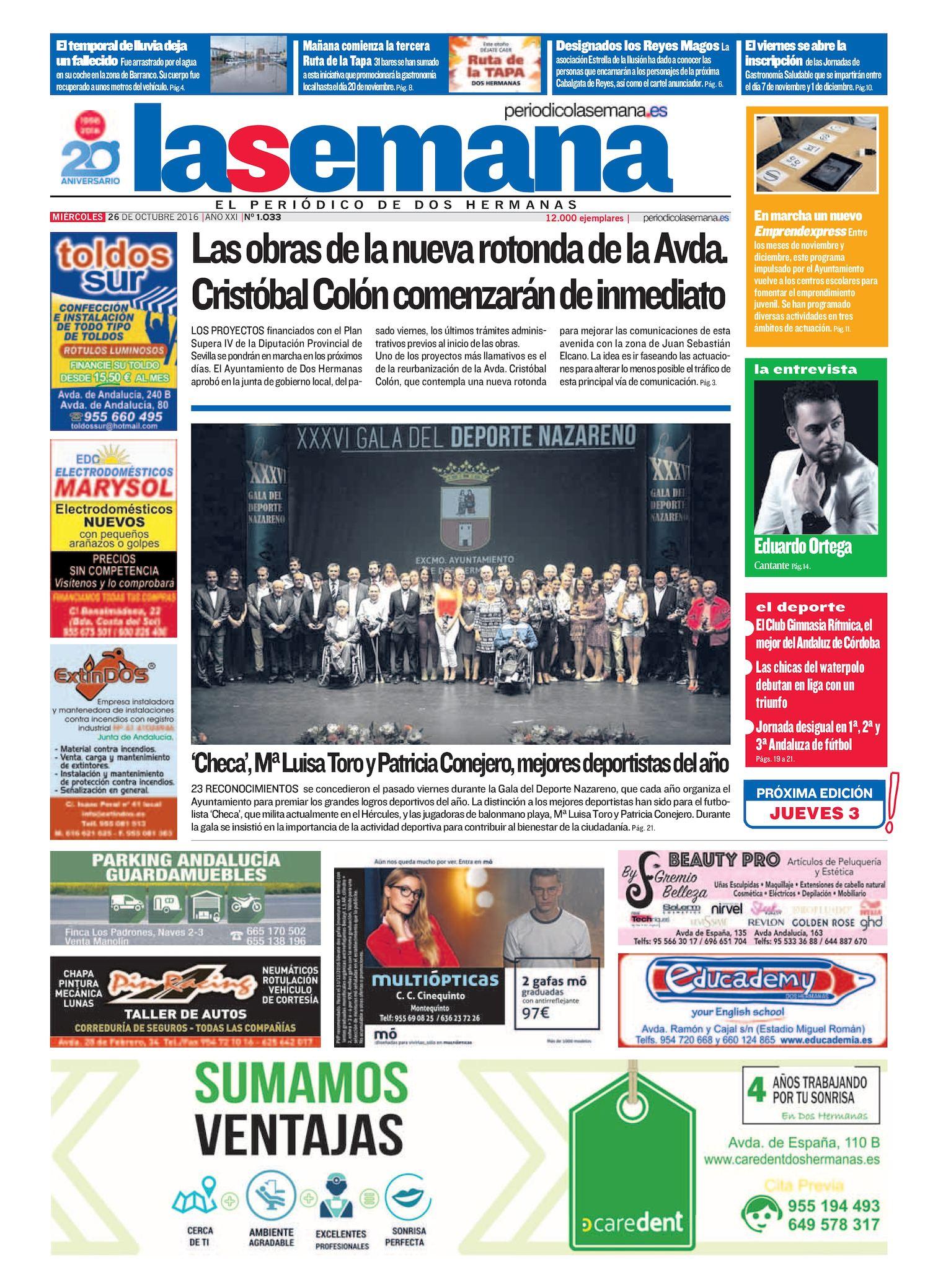 Calaméo - Periodico La Semana 1033 338743fd10eb7