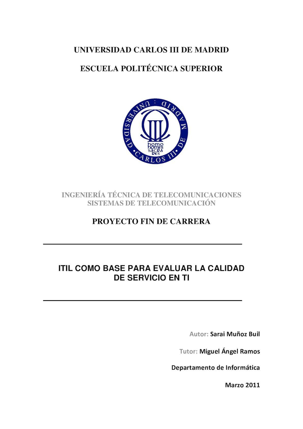 Calaméo - Itil Como Base Para Evaluar La Calidad Del Servicio En Ti V2