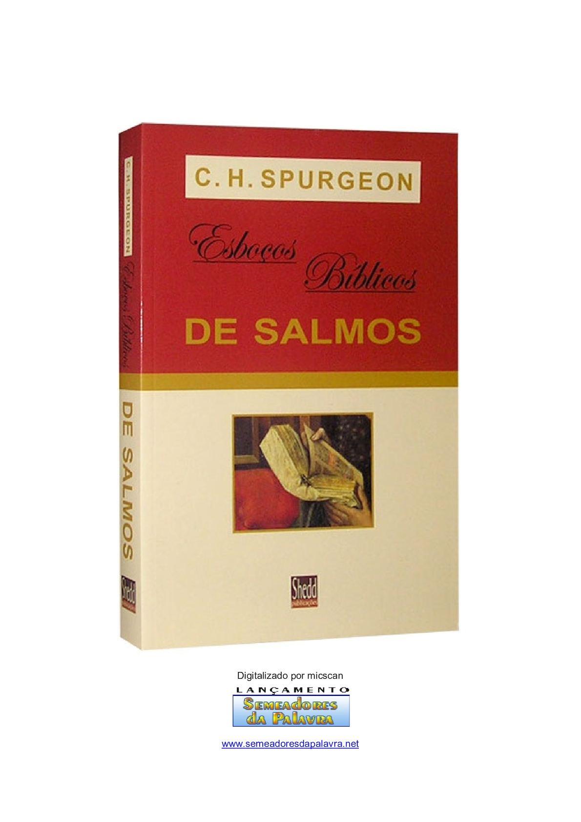 Esboços Bíblicos De Salmos - C. H. Spurgeon