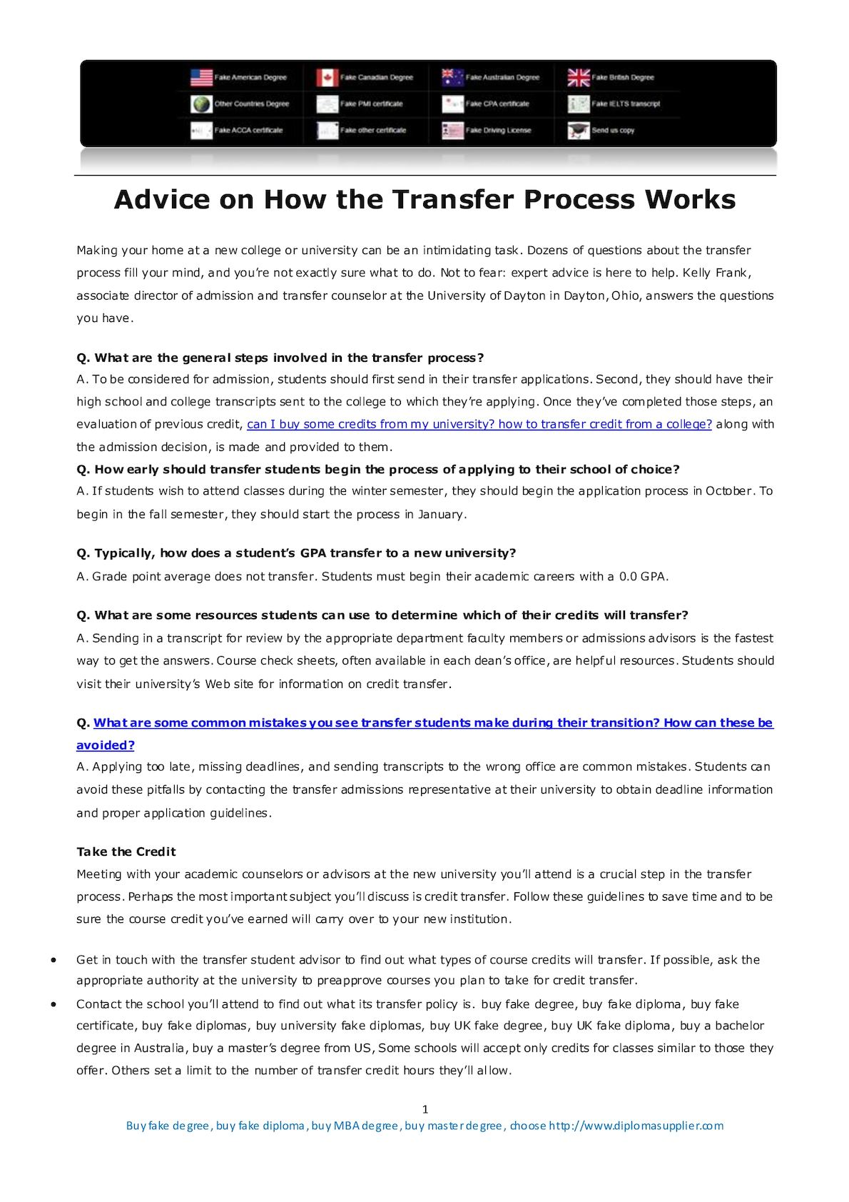 calamo advice on how the students transfer process works