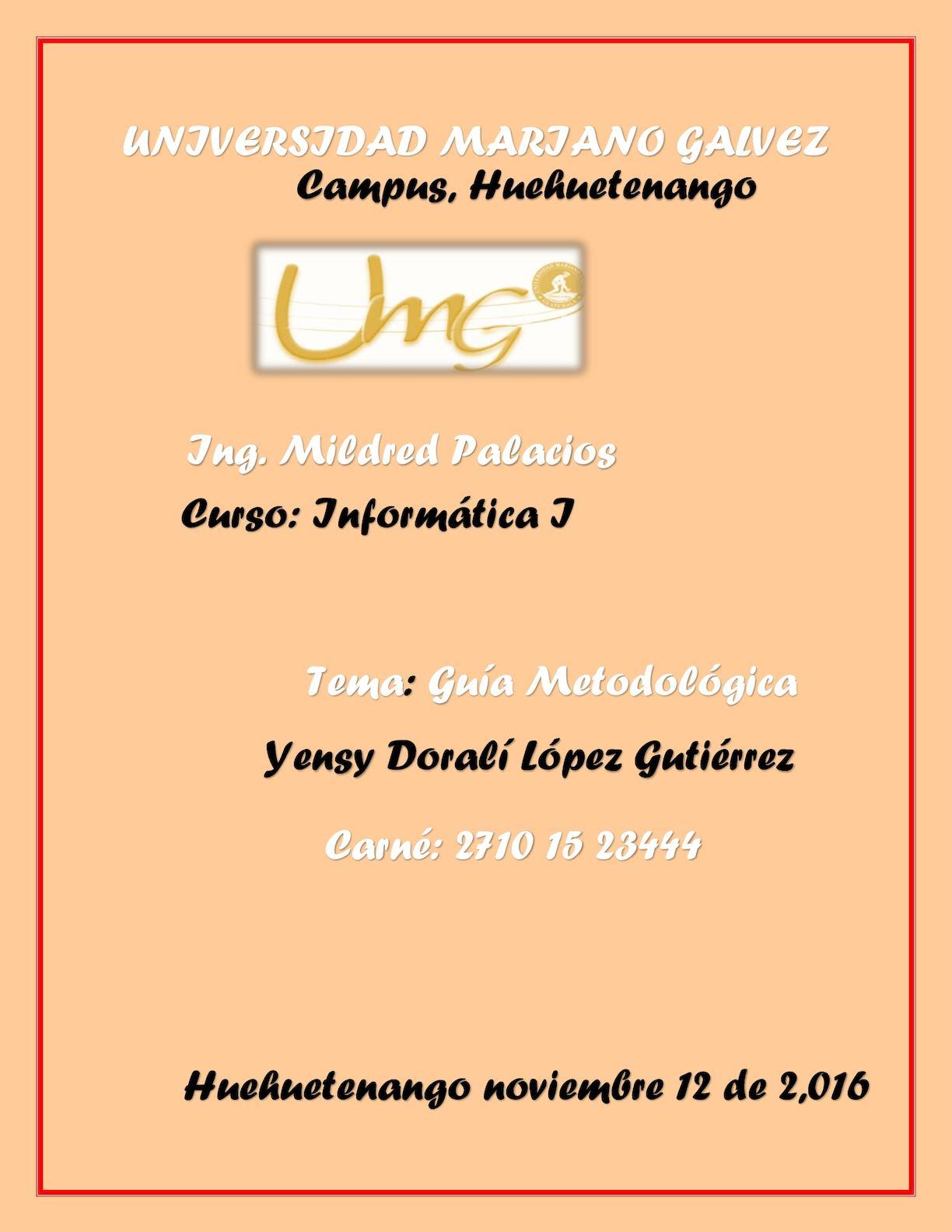 Calaméo - Guia Metodologica Informatica Yensy Lopez
