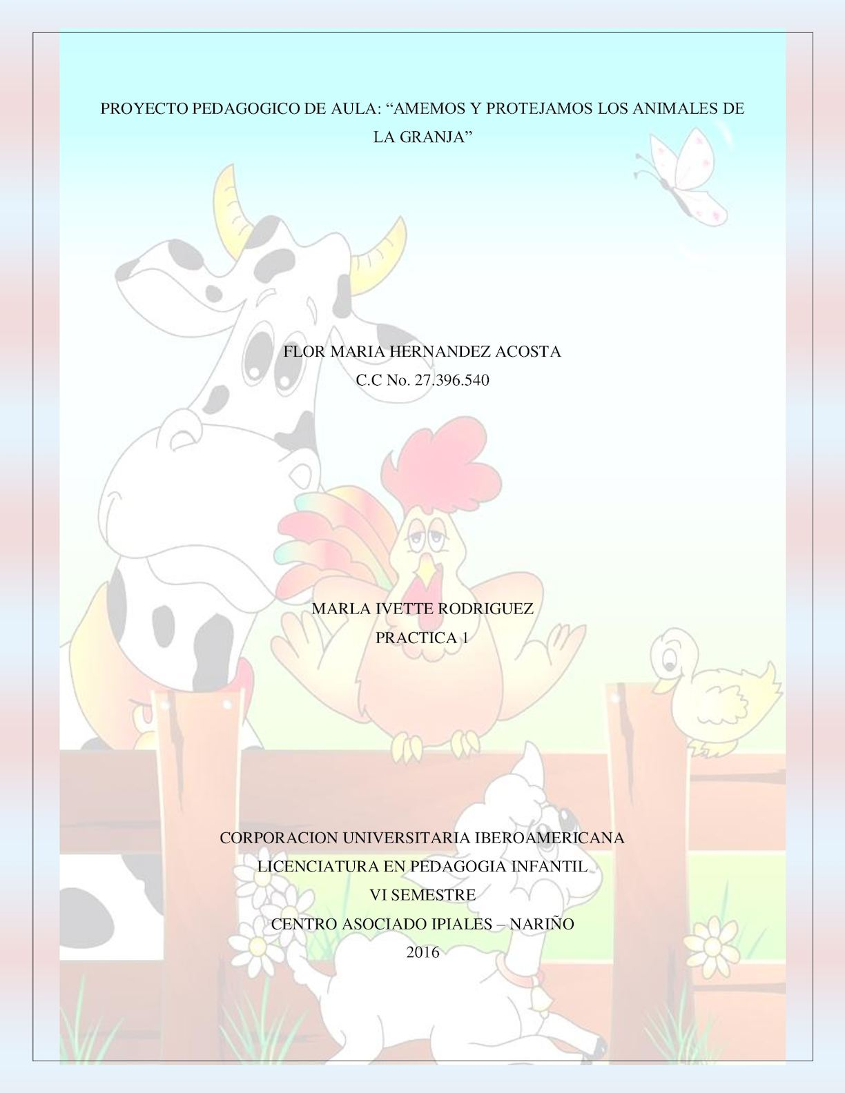 Proyecto Pedagogico De Aula Flor Maria Hernandez