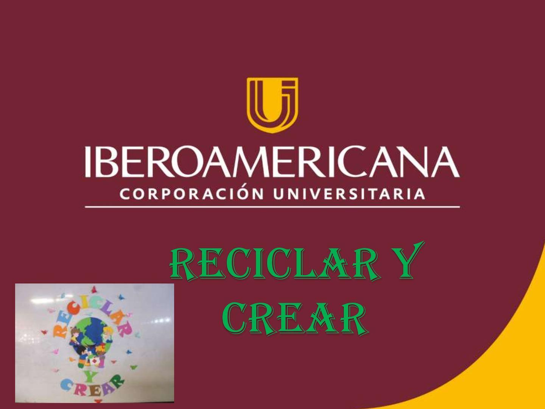 Presentación Ponencia Reciclar Y Crear