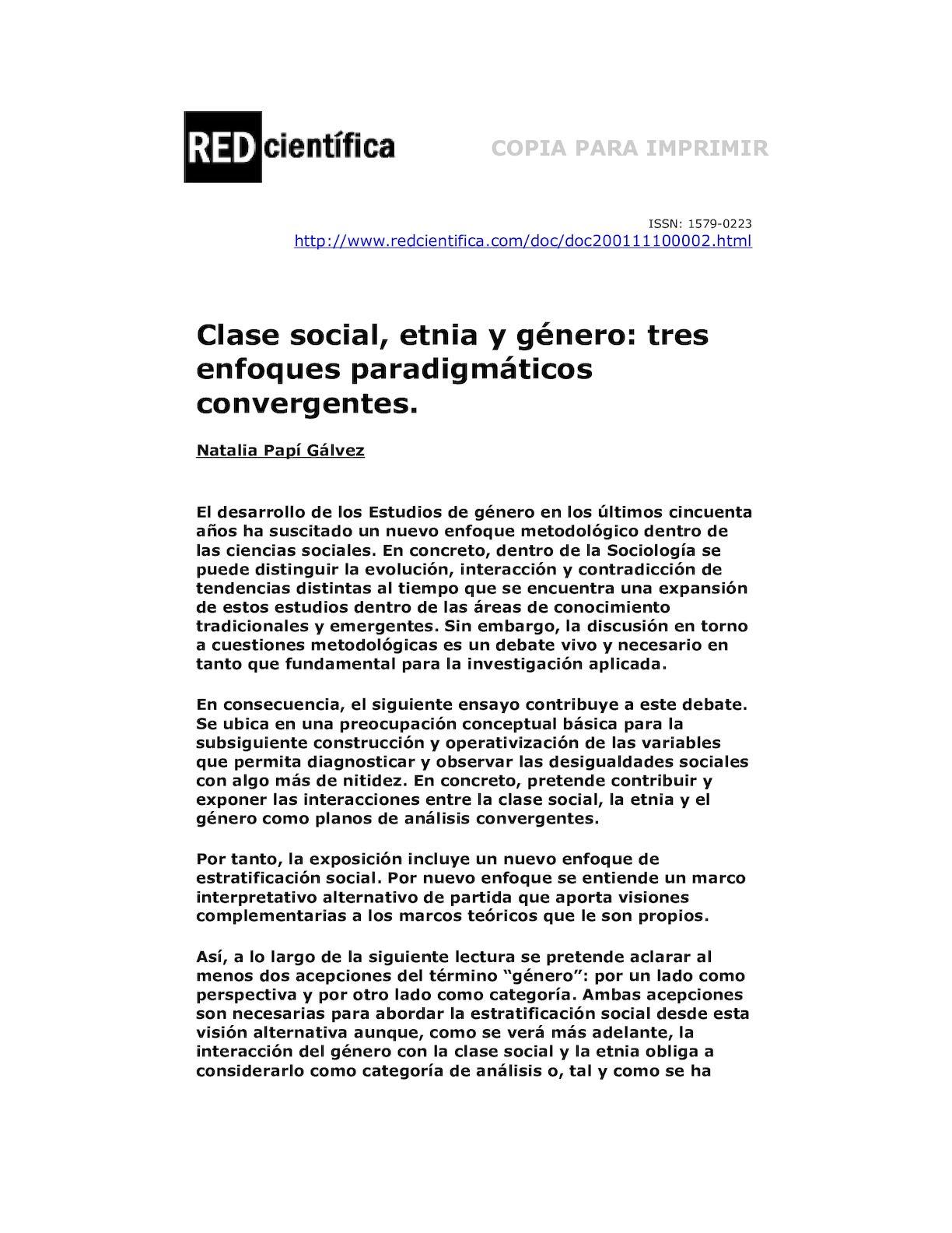 Calaméo - 5 Clase Social, Etnia Y Género