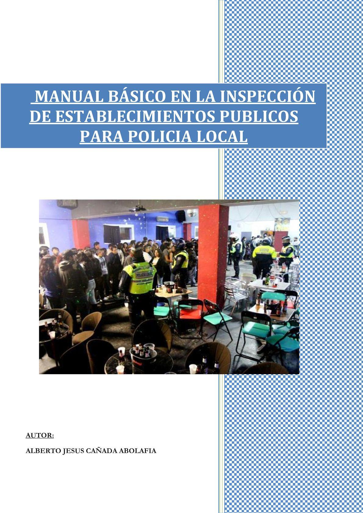 Manual Basico De Inspeccion De Establecimientos Publicos Para Policia Local