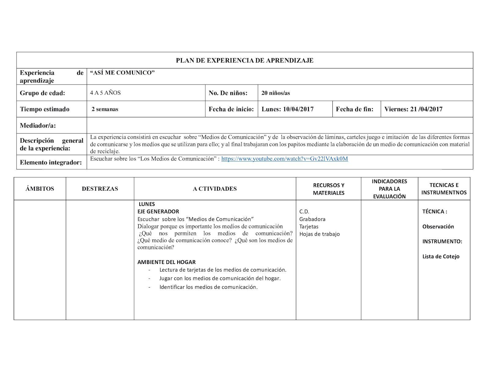 Plan De Experiencia De Aprendizaje Tres - CALAMEO Downloader