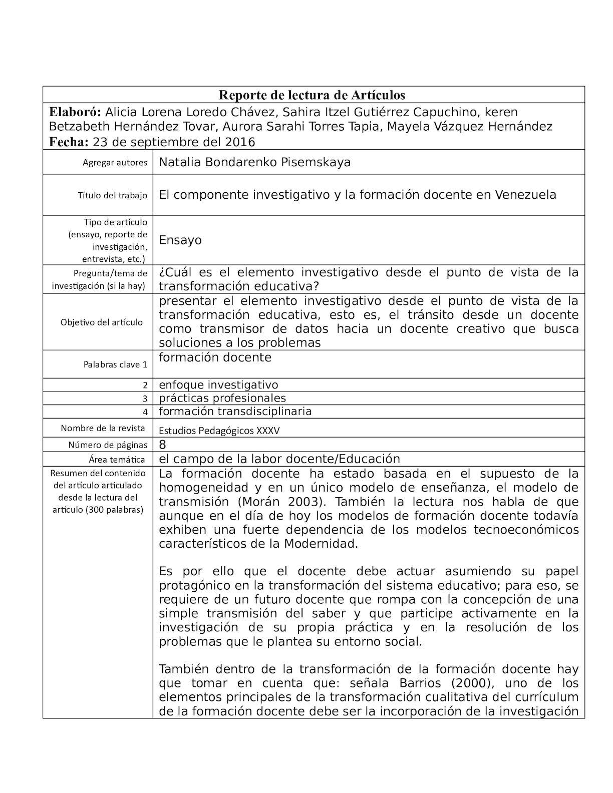 Calaméo - REPORTE DE LECTURA Final 2