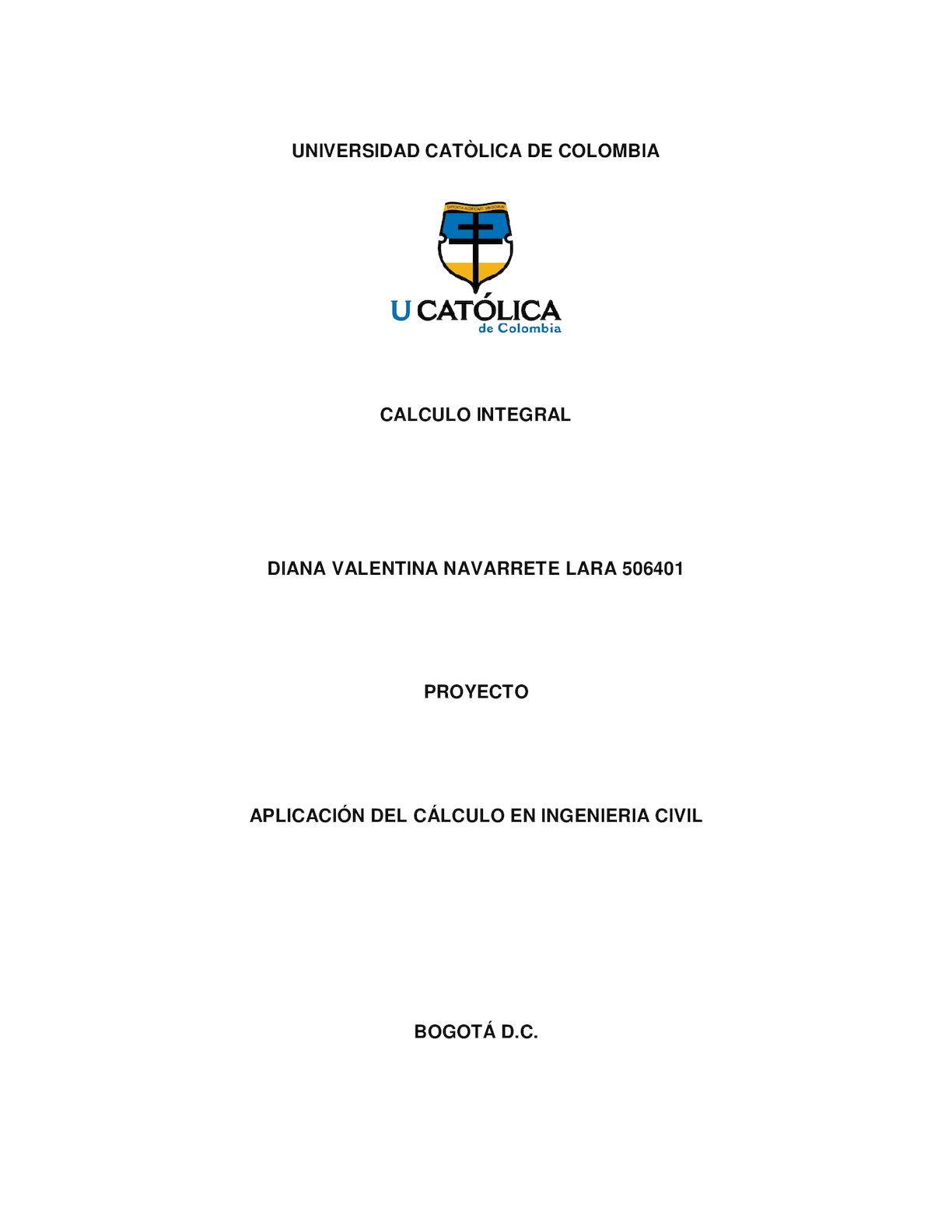Proyecto Final Calculo Integral