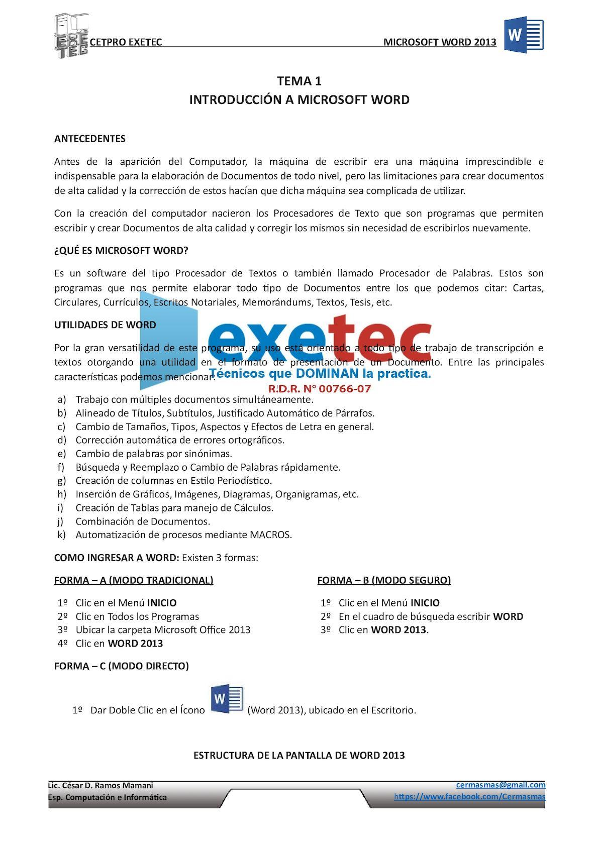 Calaméo - Manual Editable Word 2013