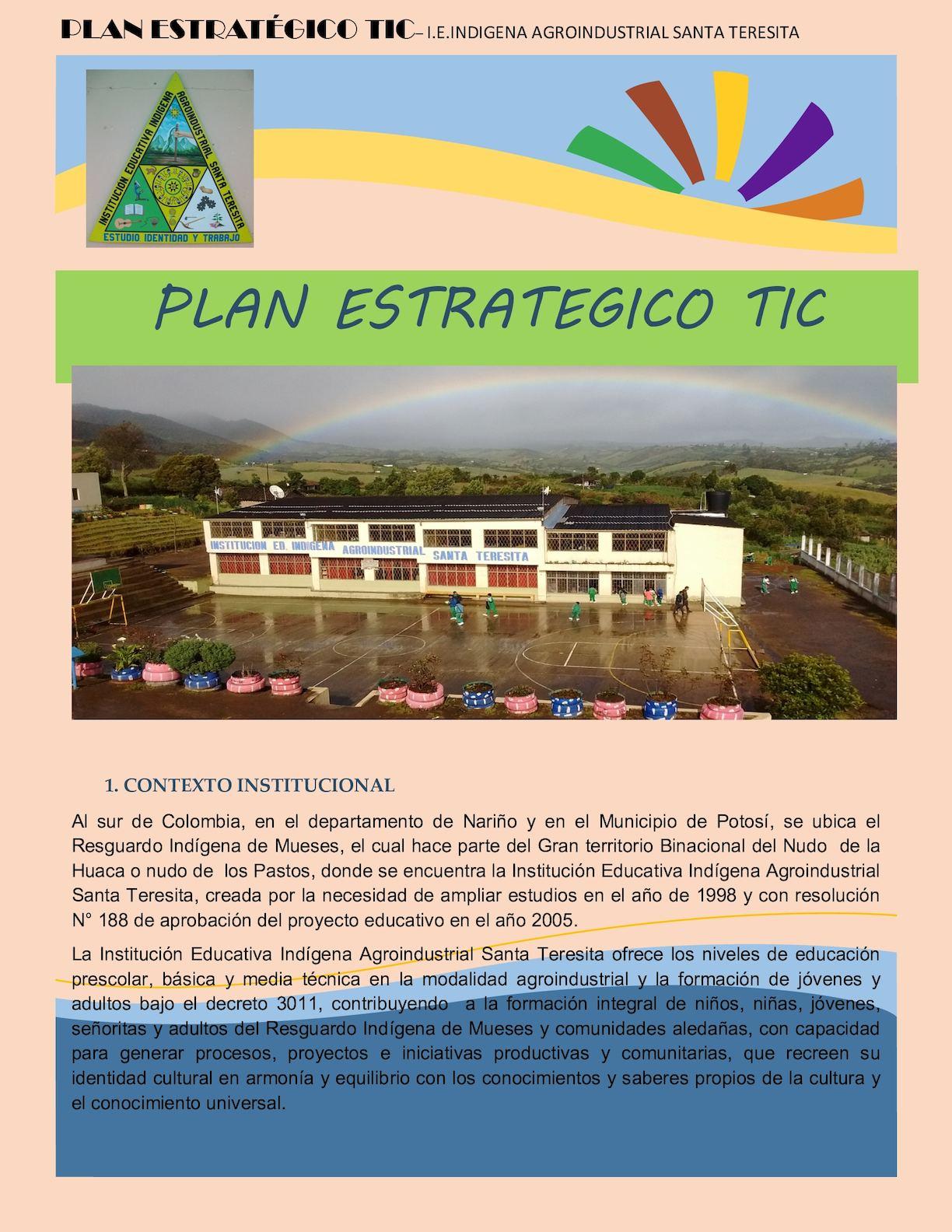 Calaméo - Sustentación Plan Estrategico Tic 1