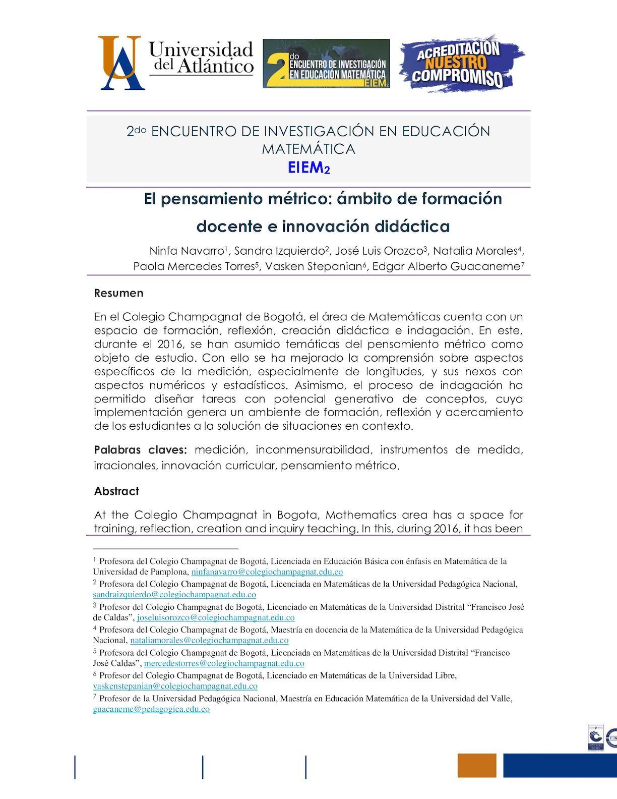 Calaméo - CB Navarro Et Al Pensamiento Métrico(documento Extenso).
