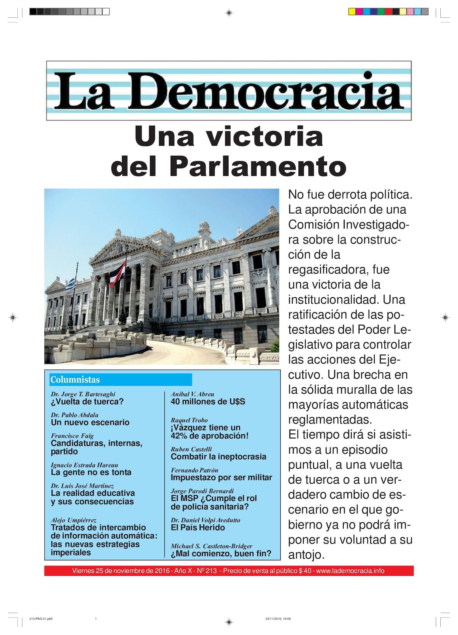 La Democracia - Nº 213 - 25/11/16