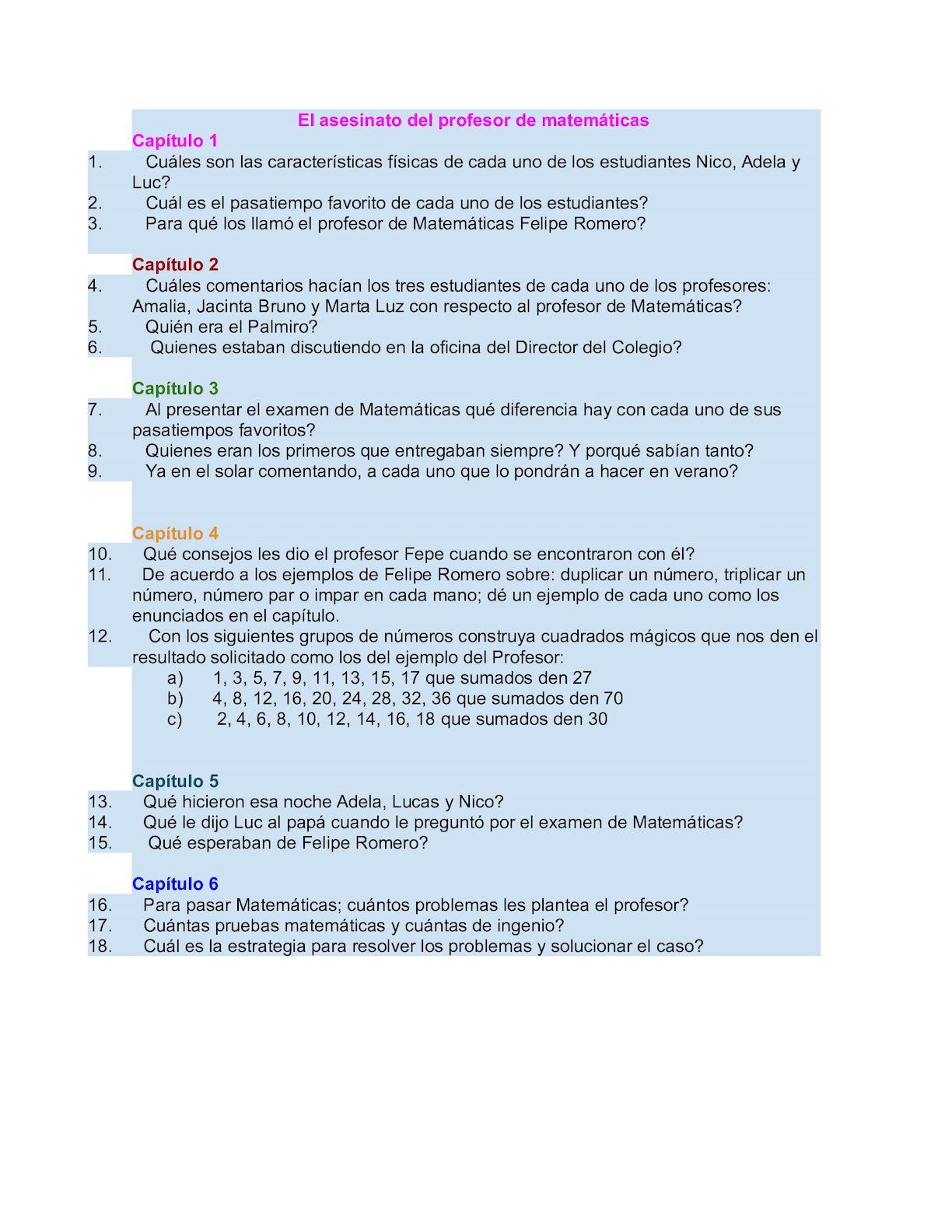 Calaméo - Evaluacion Del Asesinato Del Profesor De Matemáticas