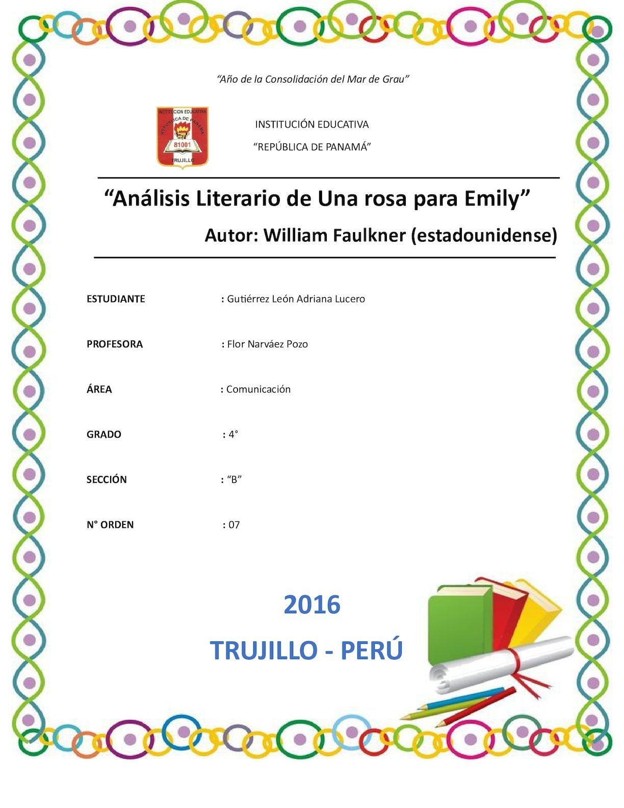 Antologia, Una Rosa Para Emily