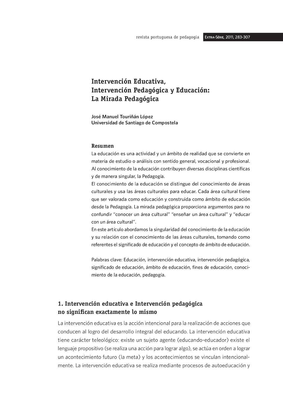 Calaméo - 1) Intervención Educativa Y Pedagógica