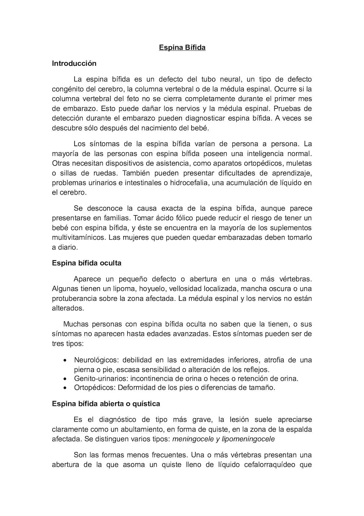 Calaméo - Espina Bífida