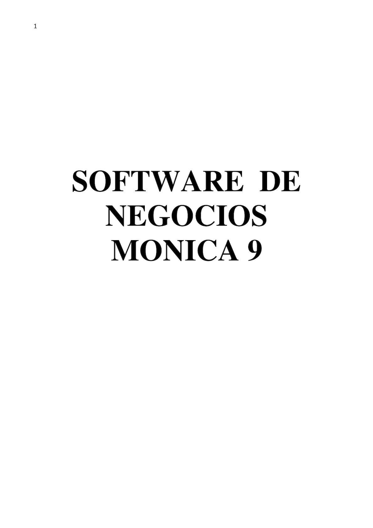 Manual Monica 9 0