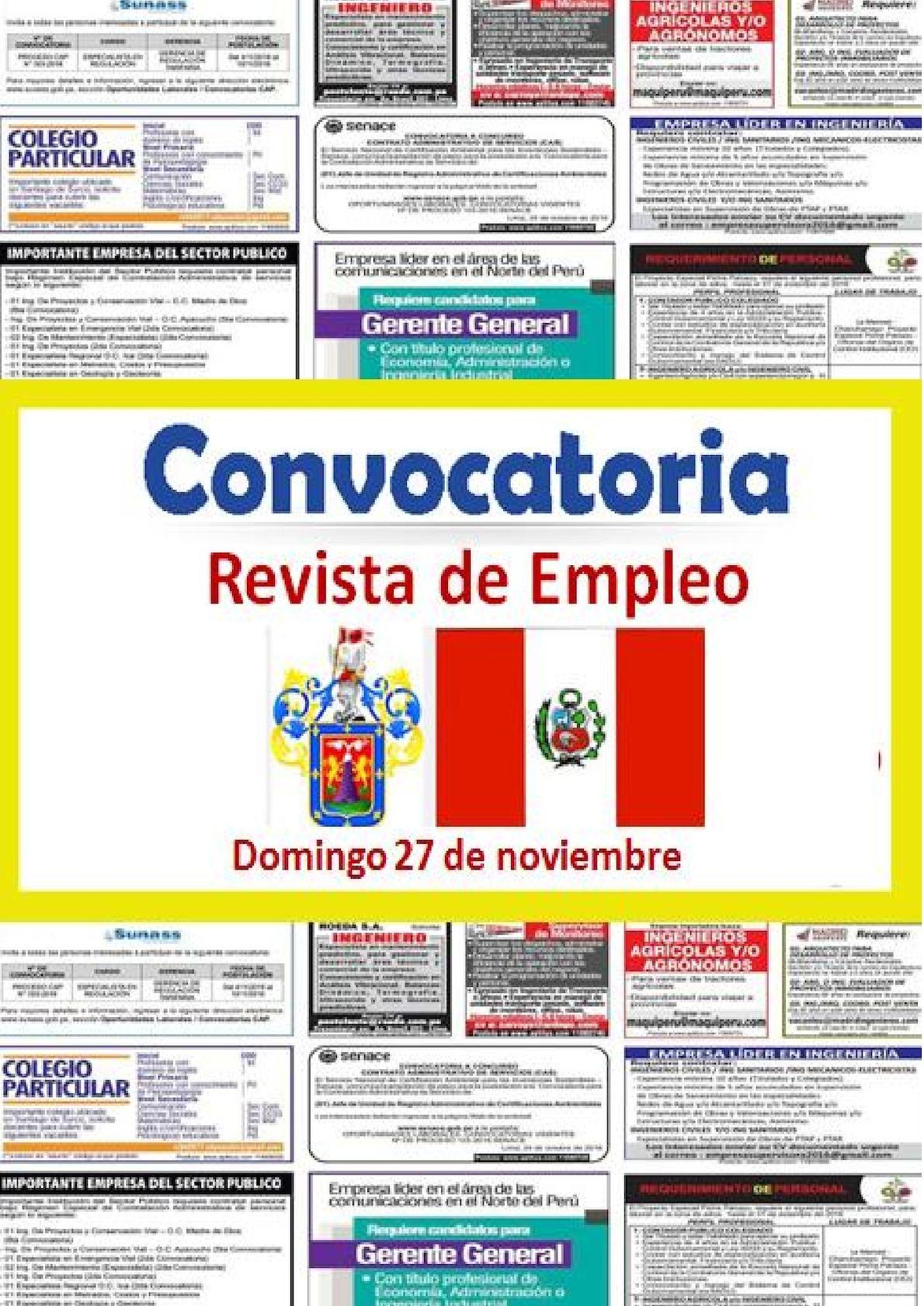 Revista De Empleo 27 De Noviembre