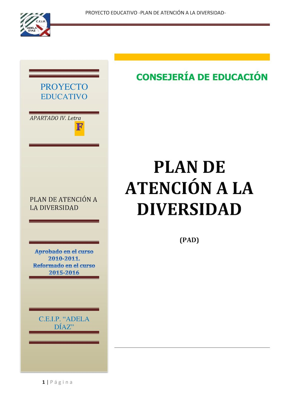 F Plan Atencion Diversidad