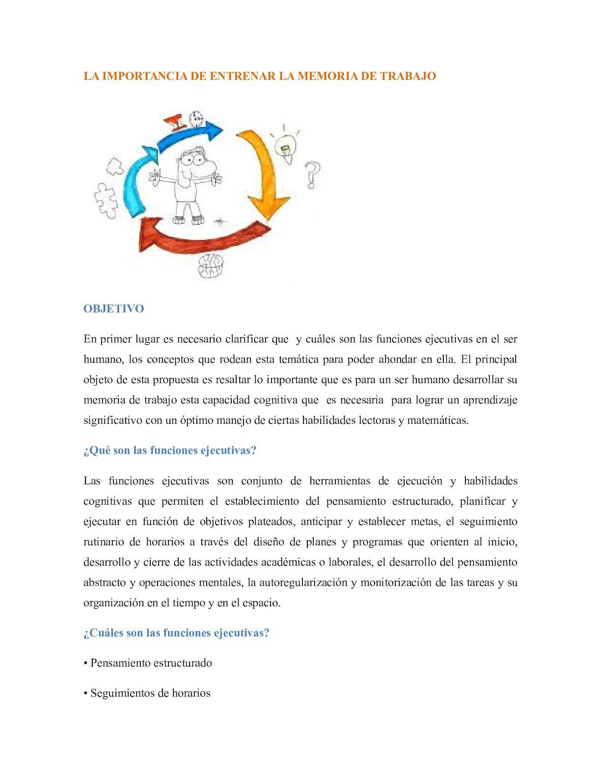 Calaméo - La Importancia De Entrenar La Memoria De Trabajo
