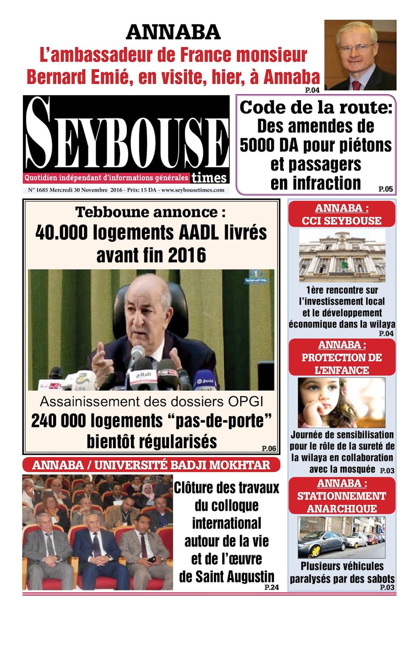 Seybouse Times 1685