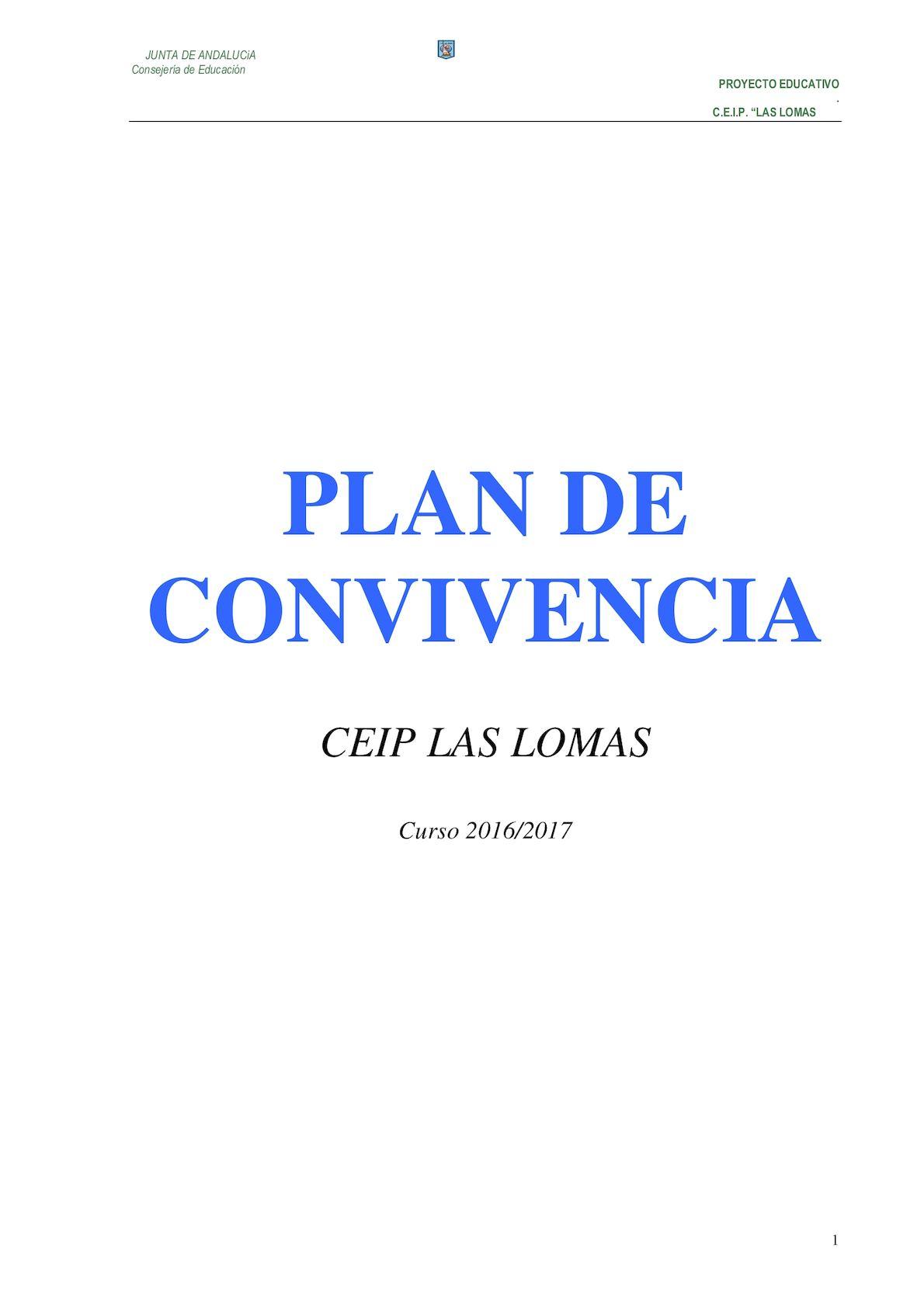 Calaméo - Plan De Convivencia CEIP Las Lomas 2016 2017