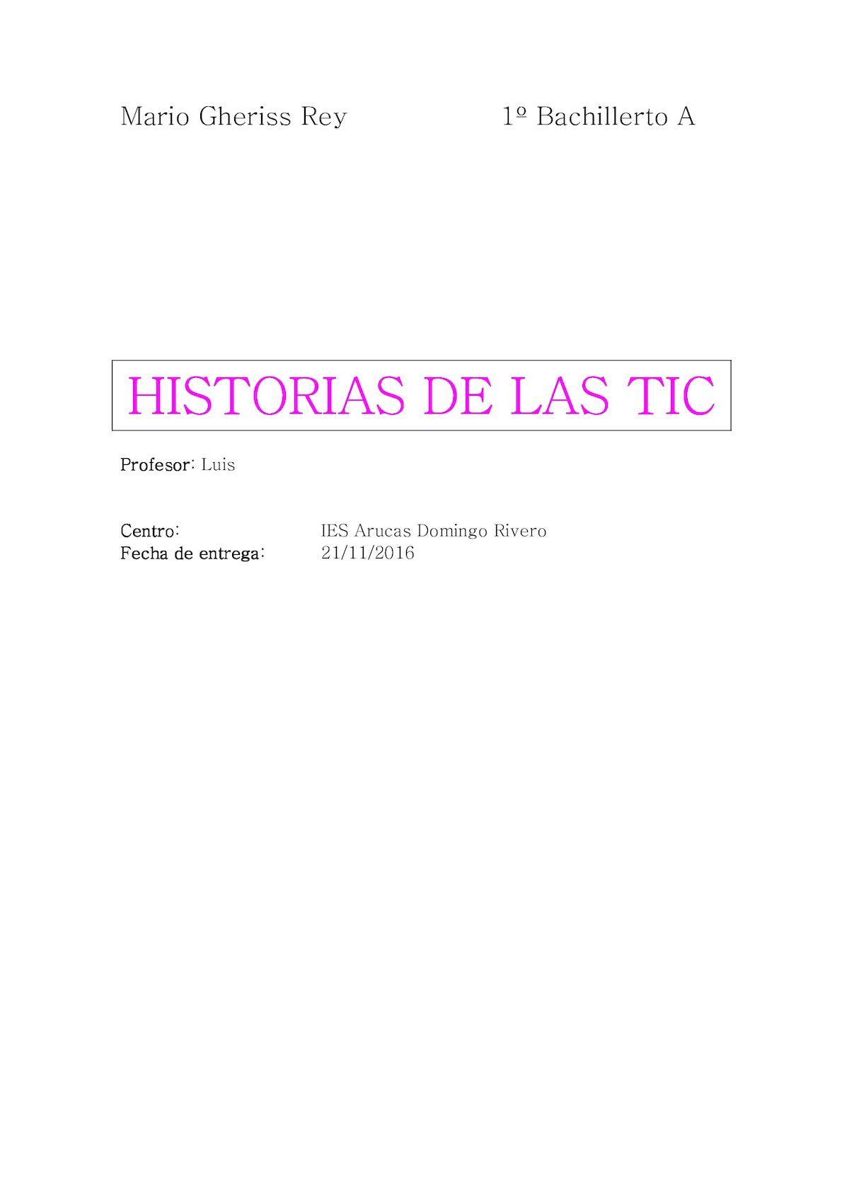 Calaméo - Historia De Las Tic Mario Gheriss