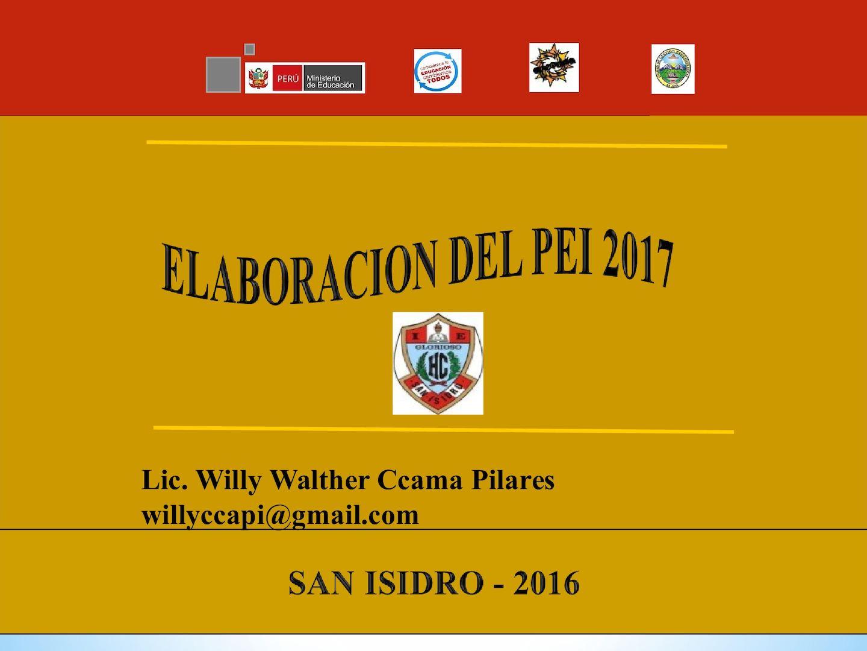 ELABORACIÓN PEI 2017