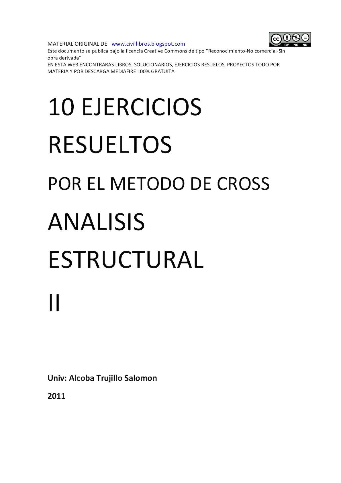 Calaméo - 10 Ejercicios Resueltos Por El Método De Cross