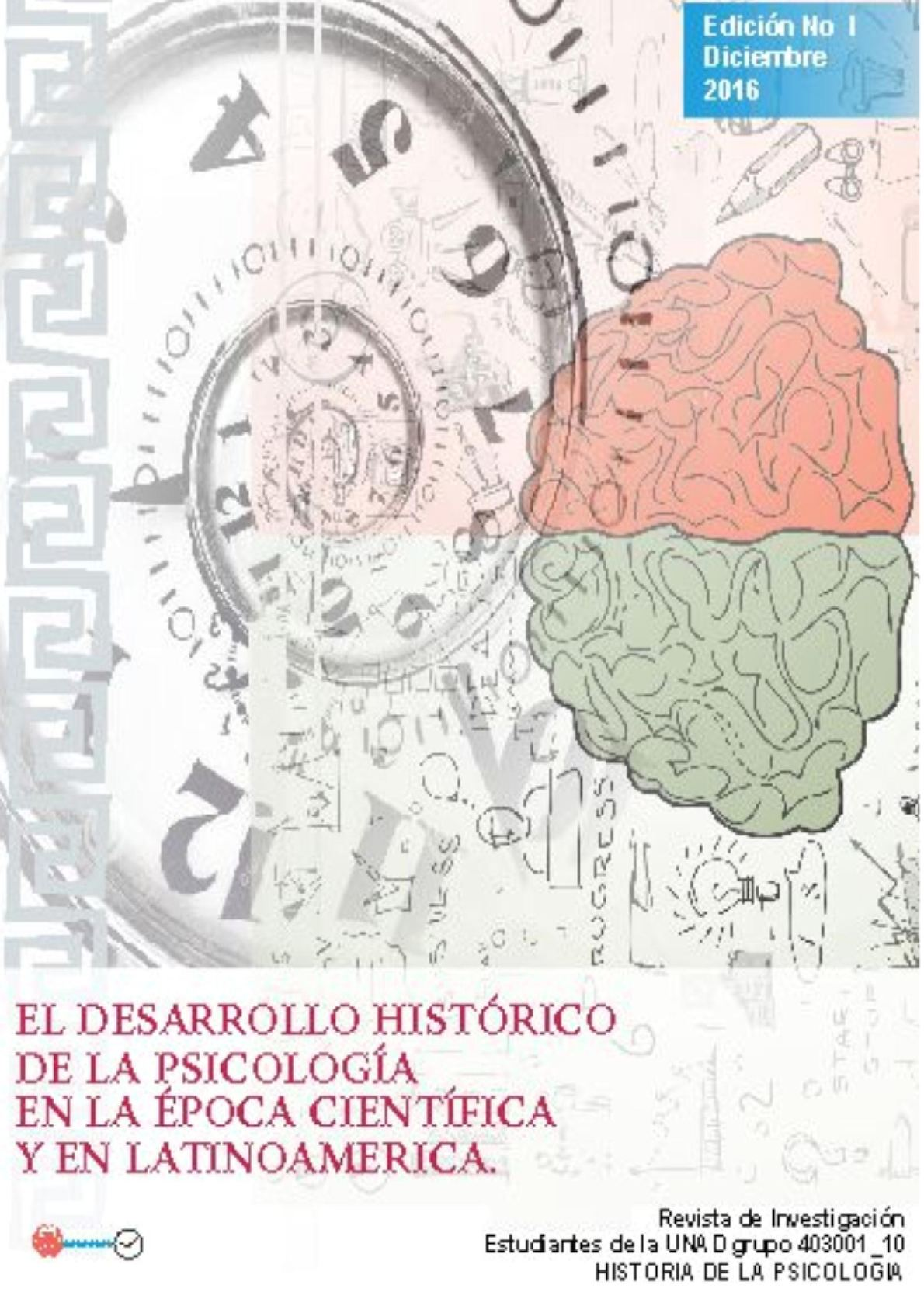 Historia De La Psicologia Revista Trabajo Final Dic 4 2016