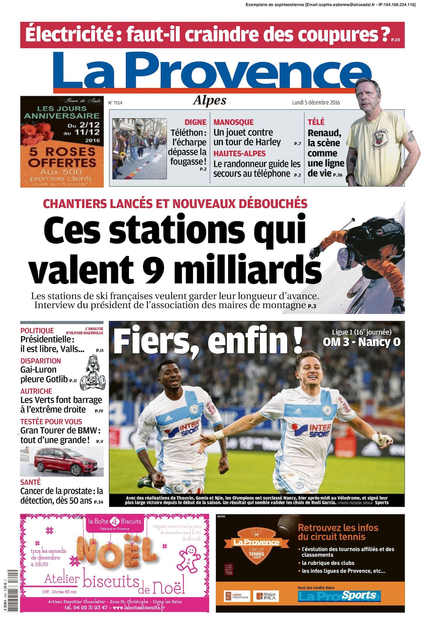 Calam 233 O La Provence Edition Alpes Du 2016 12 05
