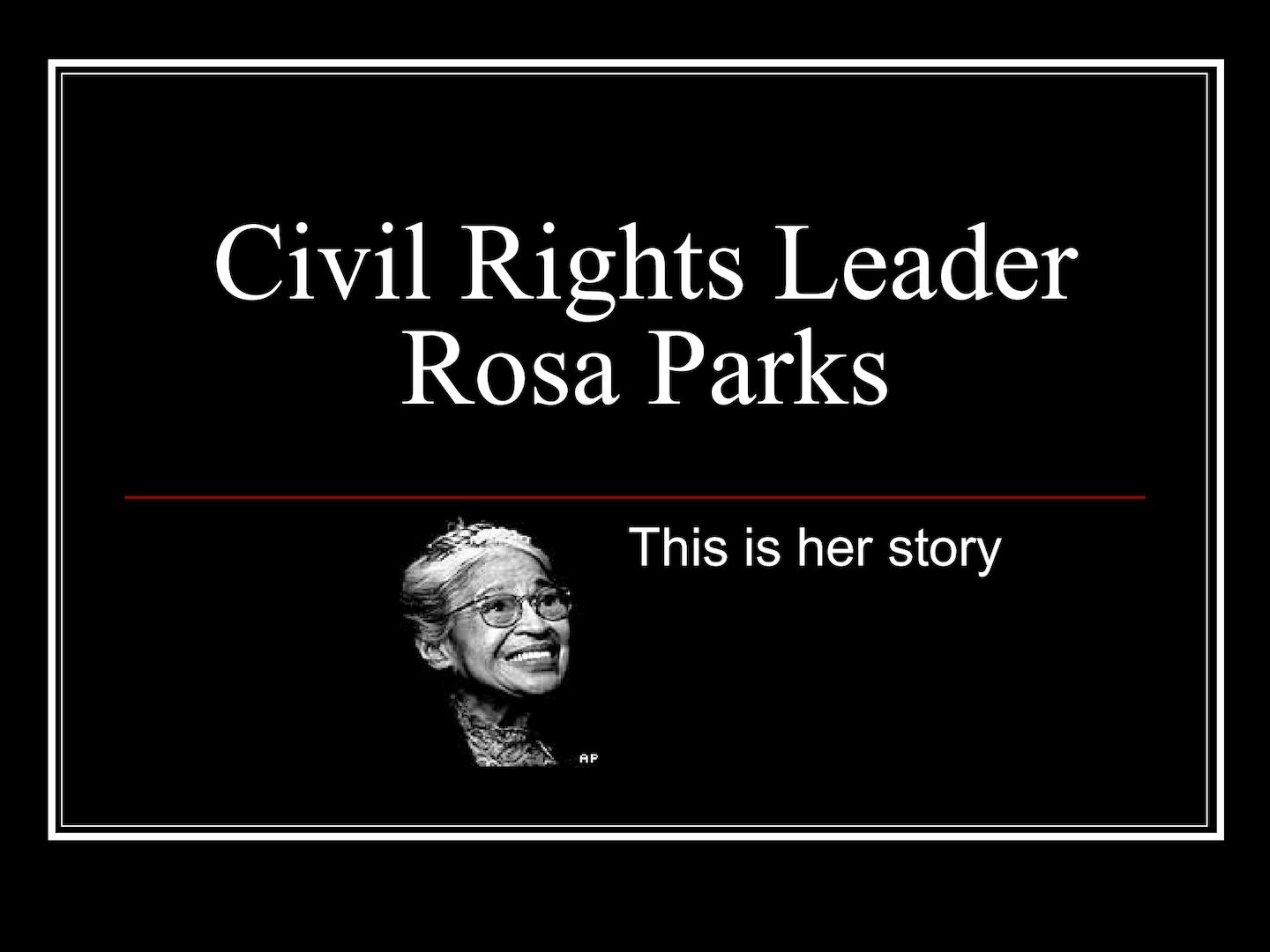 a biography of rosa parks an american civil rights leader