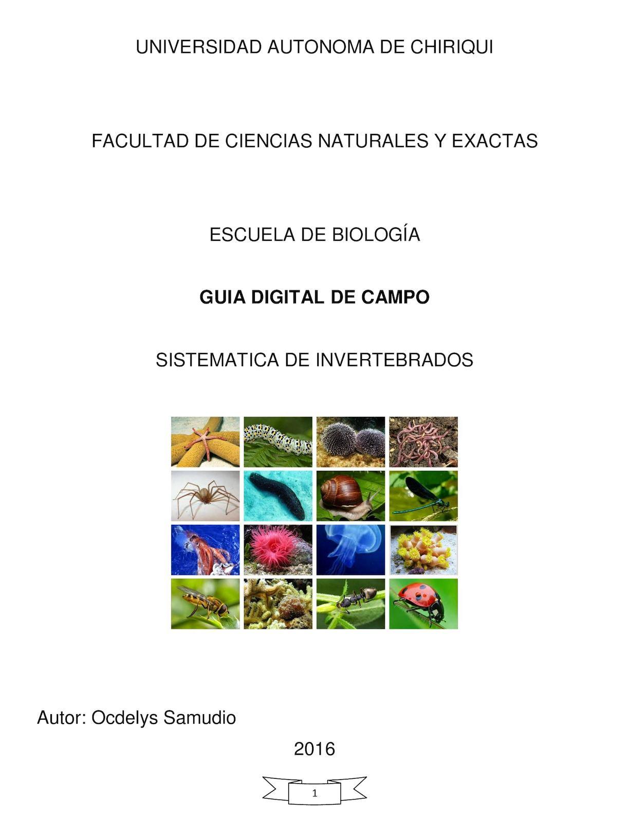Calaméo - Guia De Campo Virtual Completa Invertebrados 2016 Ocdelys