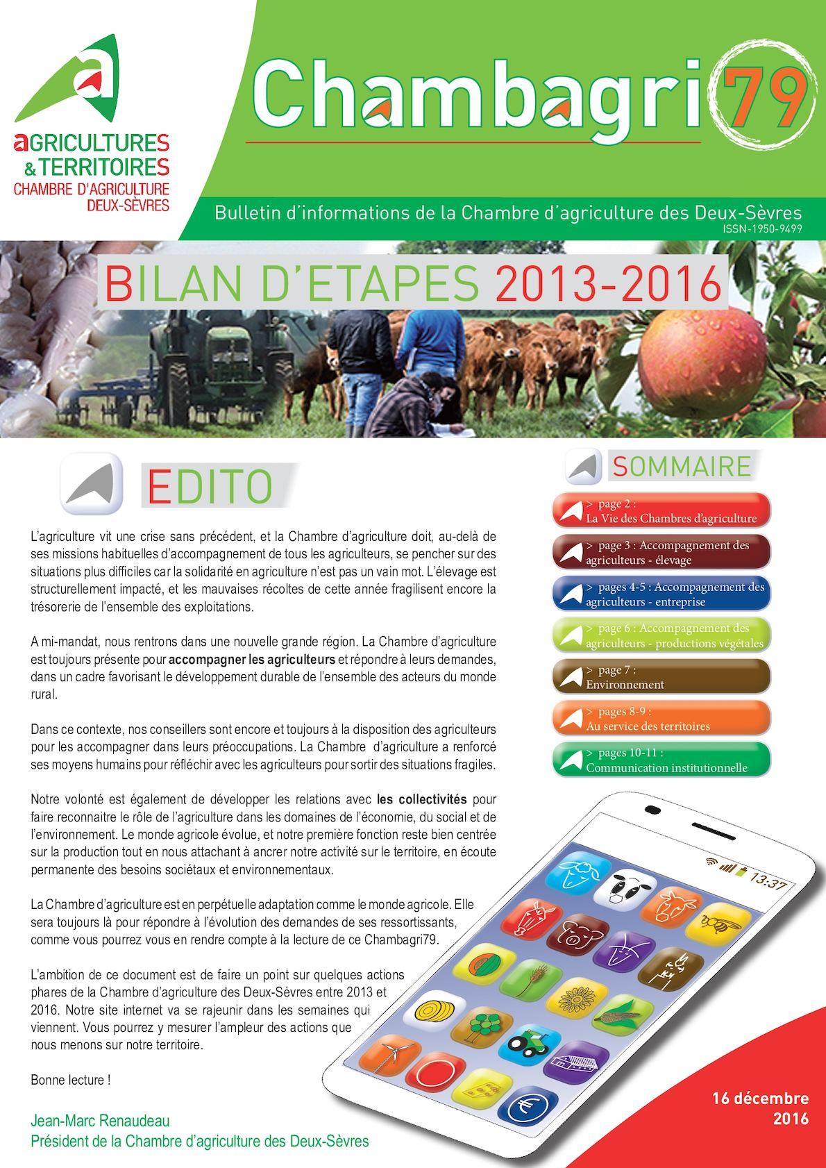 Calaméo Chambre d agriculture 79 Bilan Etapes 2013 2016
