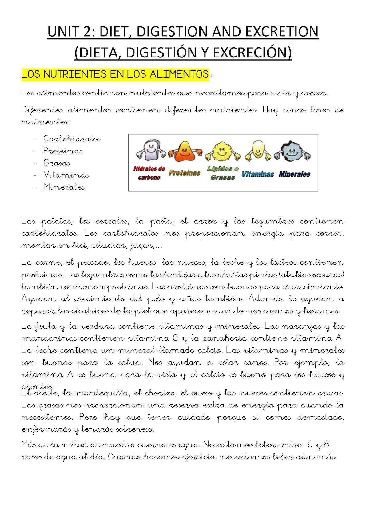 3º Resumen Repaso En Español U2