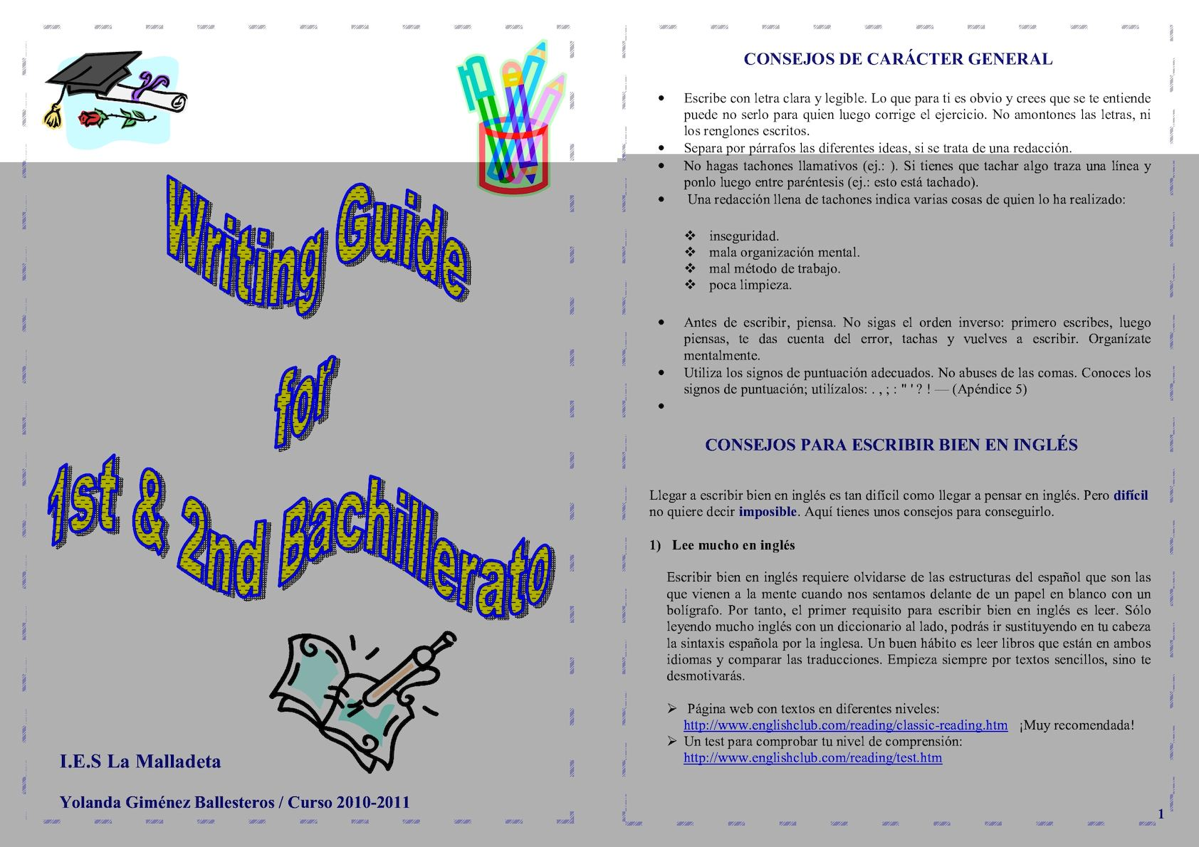 Writing Guide For 1st & 2nd Bachillerato (1)