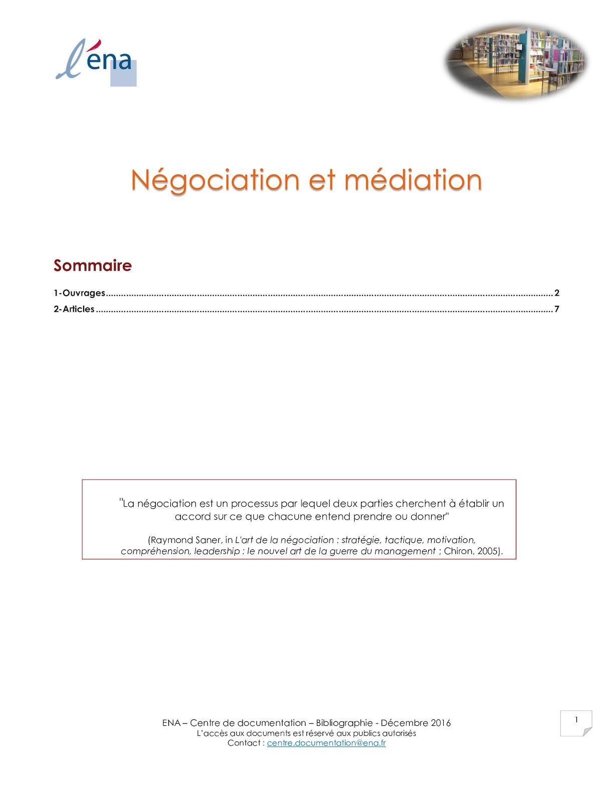 Calam o n gociation et m diation - Chambre professionnelle de la mediation et de la negociation ...