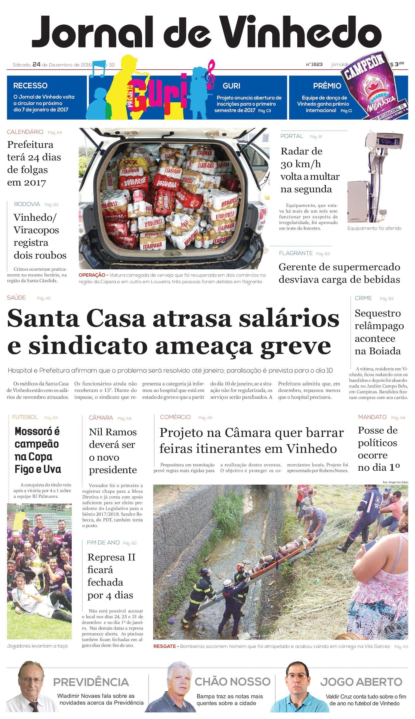 6041eacdaf306 Calaméo - Jornal De Vinhedo Sabado 24 De Dezembro De 2016 Edic 1623