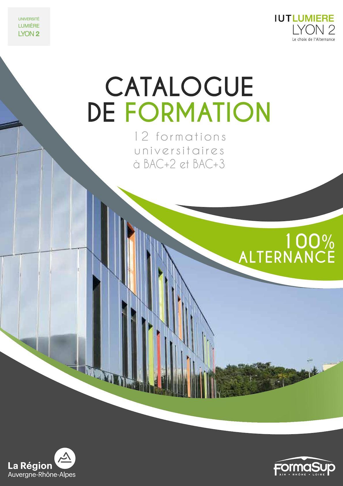 CATALOGUE FORMATIONS 2017 - IUT LUMIÈRE