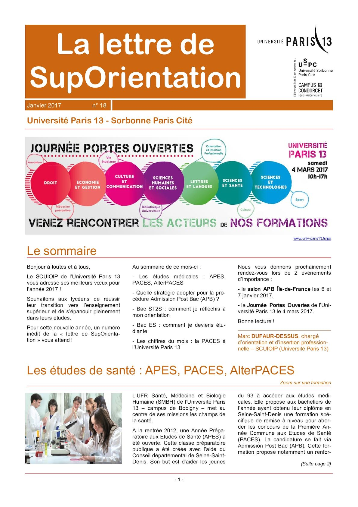 Calam o janvier 2017 la lettre de suporientation for Salon apb paris
